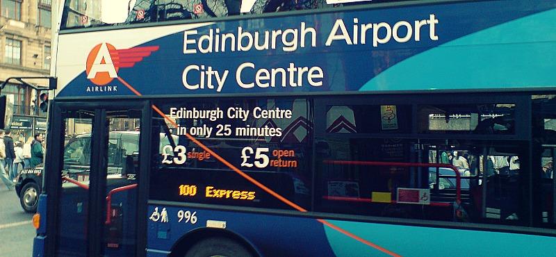 Comunicación del aeropuerto al centro de Edimburgo